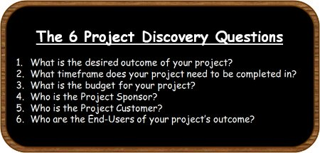Project Discovery Questions